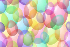 Colorful Easter eggs bokeh background Royalty Free Stock Images