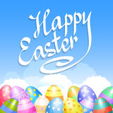 Colorful Easter eggs border for Easter holidays design. Vector Royalty Free Stock Photography