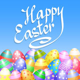 Colorful Easter eggs border for Easter holidays design. Vector Stock Images