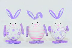 Colorful easter eggs - bunny decorations Stock Photography