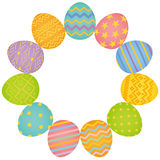 Colorful Easter eggs circle. Stock Image