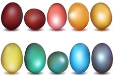 Colorful Easter Eggs Collection. Design Element Illustration, Vector royalty free illustration