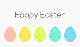 Colorful Easter eggs collection. Happy Easter greeting card background. Vector illustration vector illustration