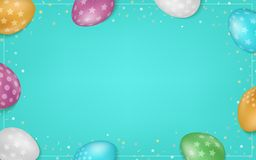 Colorful easter eggs composition. Easter sale background. Colorful easter eggs composition. Vector Easter sale background. Eps10 vector Stock Photography