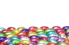 Colorful easter eggs with copy space Royalty Free Stock Photos
