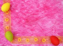 Colorful easter eggs corner boarder stock photography