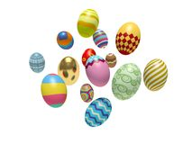 Colorful Easter eggs. Stock Photo
