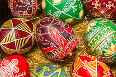 Colorful Easter eggs with deer Royalty Free Stock Image
