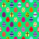 Colorful Easter eggs design seamless pattern eps10 Stock Image