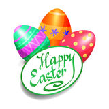 Colorful Easter eggs for Easter holidays design. Easter vector Stock Image
