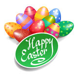 Colorful Easter eggs for Easter holidays design. Easter vector Stock Photos