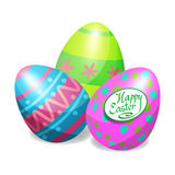 Colorful Easter eggs for Easter holidays design. Easter vector Royalty Free Stock Image