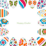 Colorful easter eggs frame Royalty Free Stock Photography