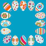 Colorful easter eggs frame Stock Image