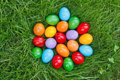 Colorful easter eggs in grass Royalty Free Stock Photo