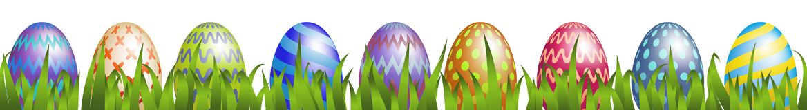 Easter eggs with grass Stock Photo
