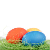 Colorful Easter Eggs on green Grass royalty free stock photography