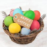 Colorful Easter eggs. Happy Easter Royalty Free Stock Photos
