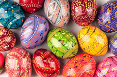Colorful Easter eggs. Royalty Free Stock Photography