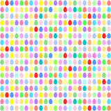 Colorful Easter eggs in horizontal rows Stock Photo