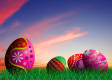 Colorful Easter eggs illustration Royalty Free Stock Photography