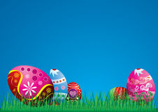 Colorful Easter eggs illustration Stock Photo