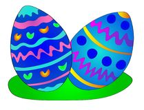 Colorful easter eggs illustration Stock Image