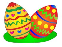 Colorful easter eggs illustration Stock Images