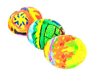 Colorful easter eggs isolate on white Royalty Free Stock Photography