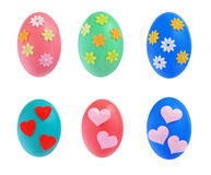 Colorful Easter eggs isolated Stock Images