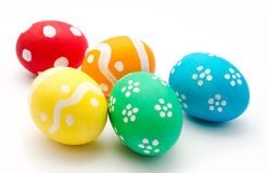Colorful easter eggs isolated over white Royalty Free Stock Images