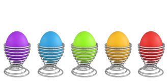 Colorful Easter eggs isolated on white Royalty Free Stock Photography