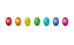 Colorful easter eggs isolated on white Stock Photos