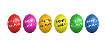 Colorful easter eggs isolated on white Stock Images