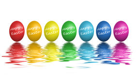 Colorful easter eggs isolated on white Royalty Free Stock Photos