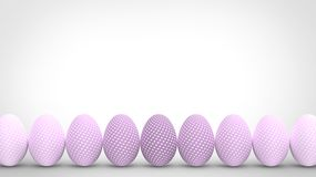Colorful easter eggs isolated on white background Stock Images