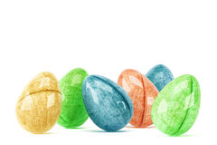 Colorful easter eggs isolated on white background Stock Image