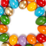 Colorful Easter eggs frame Royalty Free Stock Photo