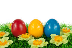 Easter eggs in a meadow Royalty Free Stock Photo