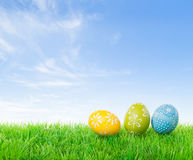 Hunting easter eggs Royalty Free Stock Photo