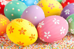 Easter eggs close up Stock Photography