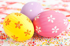 Easter eggs close up Royalty Free Stock Photography