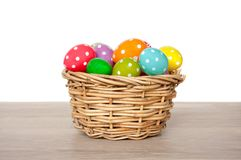 Colorful easter eggs painted Royalty Free Stock Photo