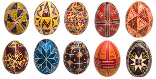 Colorful Easter eggs with pattern for background Stock Image