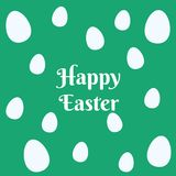 Colorful easter eggs pattern on green background royalty free illustration