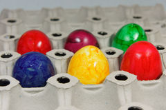 Colorful easter eggs. On a range stock photos