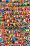 Colorful easter eggs in rows  for background Royalty Free Stock Photos
