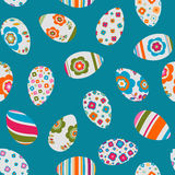 Colorful easter eggs seamless pattern. Colorful decorated easter eggs seamless pattern Royalty Free Stock Image