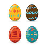 Colorful easter eggs set collection, illustration. Easter eggs for Easter holidays design on white background. royalty free illustration
