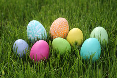 Colorful Easter Eggs Still Life With Natural Light Stock Image